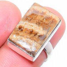 Aragonite Gemstone Handmade 925 Sterling Silver Ring Jewelry 7 Size 7255