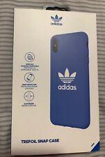 Adidas Originals Trefoil Snap Case for iPhone XS MAX - Blue / White