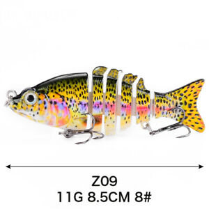 Fishing Lure Pike Multi Jointed Tool Hard Swimbait Salmon Perch Tackle Plug Bait