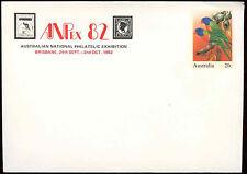Australia 20c Bird, Loikeet Optd Anpex 82 Pre-Paid Envolope Cover Unused #C18693