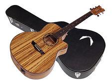 DEAN Exotica Zebra acoustic electric guitar NEW Zebra Wood w/ DEAN CASE