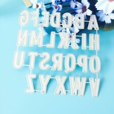 Metal Alphabet Cutting Dies Stencil DIY Scrapbooking Embossing Paper Card Decor