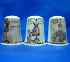 Birchcroft Thimbles -- Set of Three -- Mannequins