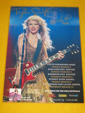 TAYLOR SWIFT - 2011 Australian Tour - Laminated Poster- Speak Now Tour