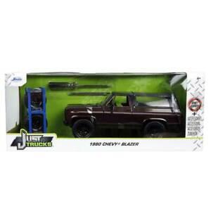 Jada Just Trucks Series: 1980 Chevy Blazer w/ Wheels & Rack (Brown) 1/24 Scale