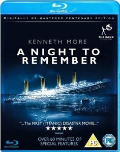 A Night to Remember [Blu-ray] [1958] [DVD][Region 2]