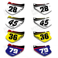 Custom Number/Name Plate Graphics Decals Stickers Kit For HONDA XR650R 2000-2009