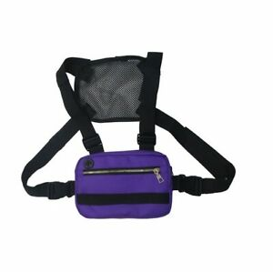 Functional Tactical Chest Bag Fashion Bullet Hip Hop Vest Streetwear Bag Waist