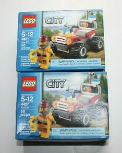 2 Factory Sealed Lego City Fire Fighter ATV (4427)