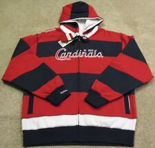 St Louis Cardinals Full Zip Fleece Hoodie Jacket Sweat Shirt Jersey Men L Large