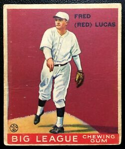 1933 Goudey Gum #137 Lucas Reds