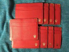 ♛ Vintage Original Rolex Card Holder Red 101.60.55