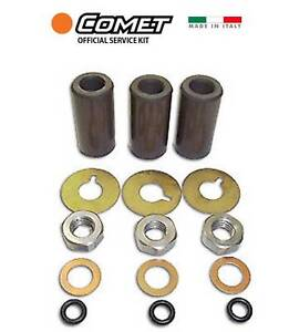 Comet 2409.0071.00 KIT 15mm 3 CERAMIC COATED PISTONS for LW ZWD Pumps 2409007100