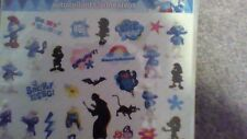 Smurfs characters sticker 2 sheets with 33  stickers
