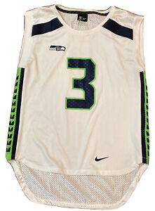 Nike Seattle Seahawks Russell Wilson Womens Sleeveless Jersey Top White Medium