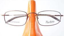 Brille Metallgestell Brillenfassung elastisch biegsam braun kleine Form size K