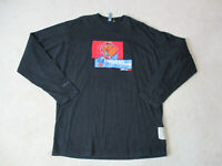 VINTAGE Fubu Long Sleeve Shirt Adult Extra Large Black Red Fat Albert Mens 90s