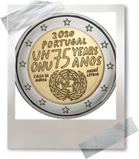 2 EURO *** Portugal 2020 *** 75 jaar Verenigde Naties - 75 ans Nations Unies !!!