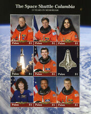 Palau 2018 MNH Space Shuttle Columbia 15 Yrs Memoriam 9v M/S Stamps