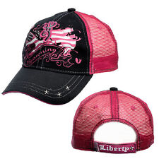 Browning Women's Liberty Cap    Black and Fuchsia  One size