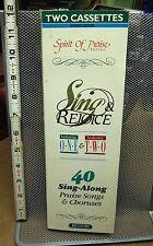 SING & REJOICE cassette-tape Vol I & II NWT longbox 40 sing-along hymns