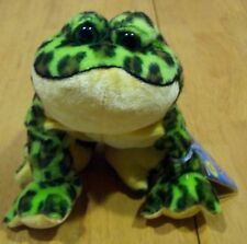 "Ganz Webkinz GREEN SPOTTED BULLFROG FROG 6"" Stuffed Animal NEW"