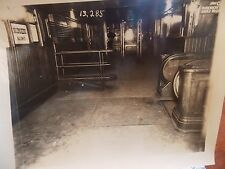 Orig 1920s NYC New York City Subway Escalator Photo 9 x 11
