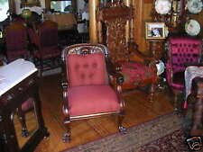 antique karpen griffin head mahogany arm chair super