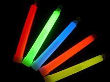 """500 6"""" ASSORTED Glow Sticks 15mm Bulk Wholesale Pack w/ FREE 200 Glow Bracelets"""