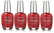 LOT OF 4 - Sally Hansen Nail Growth Miracle 330 Stunning Scarlet