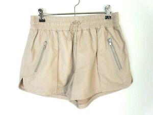 Zaliah tan leather shorts. Size 12. Tan. V soft leather. Australian