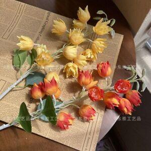 1Pc Room Decoration Fake Chic Flowers Lantern Artificial Flower Bouquet Living
