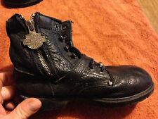 Juniors Kids Harley Davidson Boots Black Leather Sz 3 *CUTE*!