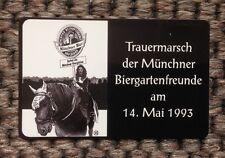 Trauermarsch der Münchner Biergartenfreunde, Telefonkarte Rarität, Wert 6.-- DN