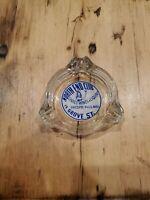 Vintage 50's North End Club Glass Ash Tray Choice Wine Liquor Chicopee Falls Ma