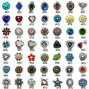 Hot Sale Chunk 18mm Snap Button For Bracelet/ Necklace Charms