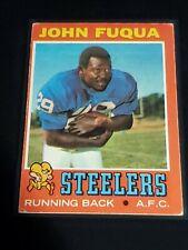 1971 Topps #76 John Fuqua RC Running Back Pittsburgh Steelers Morgan State AFC
