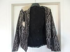 LADIES TOPSHOP LOVELY WINTER JACKET WITH FAUX FUR HOOD SIZE 6