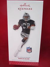 Hallmark 2013 ~ Nfl: Los Angeles Raiders ~ Marcus Allen ~ New In Box! bin 5