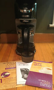Mr. Coffee Cafe Latte Maker BVMC-EL1 Cocoa ++ & Gold Filter & Manual Recipes EUC