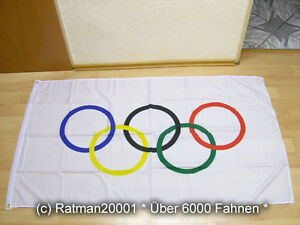 Fahne Flagge Olympia Olympic - 90 x 150 cm