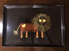 Vintage Couroc Tray Mid Century California Monterey. Rare Lion Design