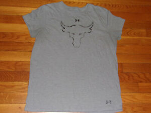 UNDER ARMOUR PROJECT ROCK SHORT SLEEVE T-SHIRT MENS LARGE EXCELLENT COND.