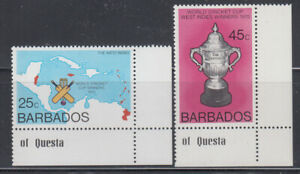 Barbados 1976 Cricket Cup Sc 438- 439  Mint Never Hinged