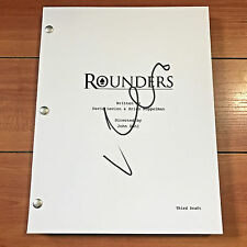 MATT DAMON SIGNED ROUNDERS FULL 126 PAGE MOVIE SCRIPT - w/ PROOF PHOTO AUTOGRAPH