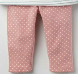 New Baby Boden Gorgeous Pink Polka Dot pretty trimmed Leggings ages 0 to 2 yrs