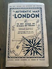 The Authentic Map Of London By Alexander Gross Vintage 1920's 30's