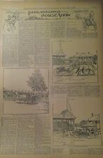 MAY 23, 1896 NEWSPAPER PAGE #J5945- PHILADELPHIA HORSE SHOW- 4 PGS ILLUSTRATIONS