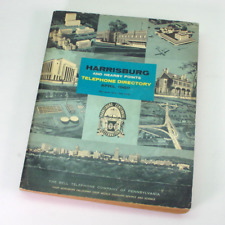 Vintage 1960 Harrisburg PA Bell Telephone Phone Book Directory & Yellow Pages