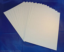 15 x A4 Greyboard Sheets 0.5mm / 500 micron - model buildings, mountboard, craft